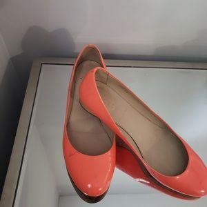 Neon orange j.crew shoes sz 9.5